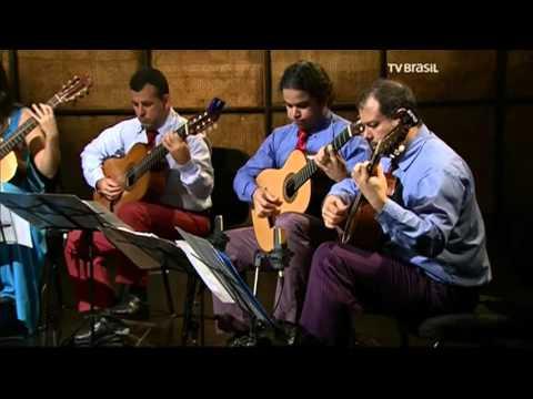 """Camerata de Violões no programa """"Partituras"""", da TV Brasil"""